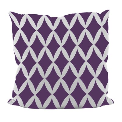 Geometric Decorative Throw Pillow Size: 16 x 16, Color: Grape Royale