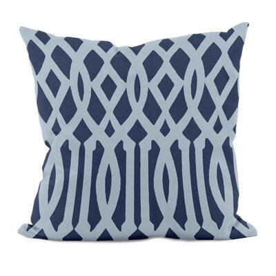 Trellis Decorative Throw Pillow Size: 18 H x 18 W, Color: Navy Blue