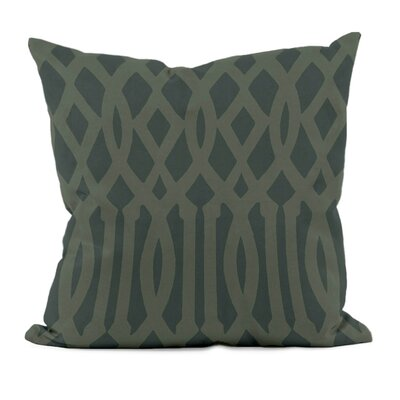 Trellis Decorative Throw Pillow Size: 18 x 18, Color: Thyme