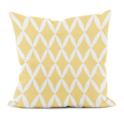 Geometric Decorative Throw Pillow Size: 16 x 16, Color: Yellow Haze