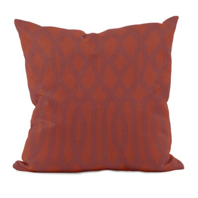 Trellis Decorative Throw Pillow Size: 16 x 16, Color: Picante