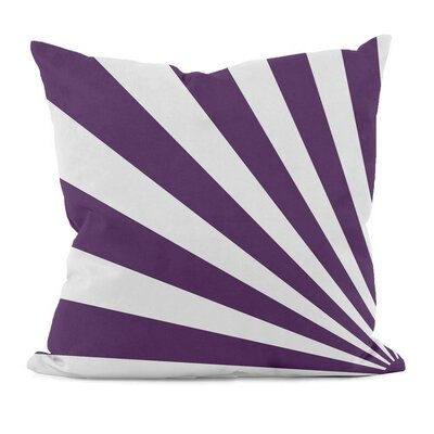 Geometric Decorative Throw Pillow Size: 18 H x 18 W, Color: Purple