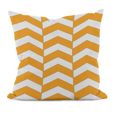 Geometric Decorative Throw Pillow Size: 16 x 16, Color: Celosia Orange