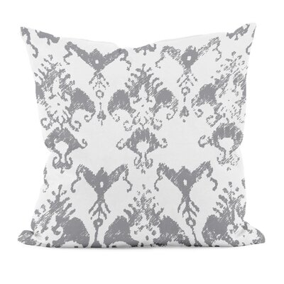 Floral Motifs Cotton Throw Pillow Size: 16 H x 16 W, Color: Classic Gray