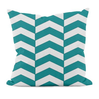 Geometric Decorative Throw Pillow Size: 16 x 16, Color: Lake Blue