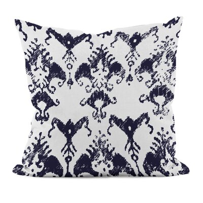 Floral Motifs Cotton Throw Pillow Size: 16 H x 16 W, Color: Spring Navy