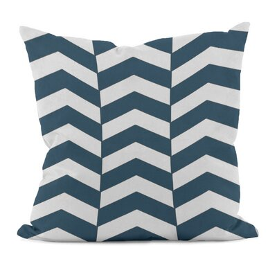 Geometric Decorative Throw Pillow Size: 16 x 16, Color: Moroccan Blue