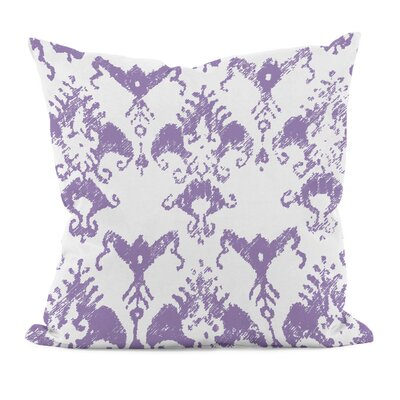 Floral Motifs Cotton Throw Pillow Size: 16 H x 16 W, Color: Heather Purple