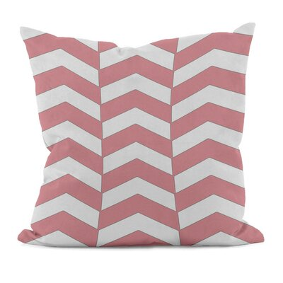 Geometric Decorative Throw Pillow Size: 18 H x 18 W, Color: Pink