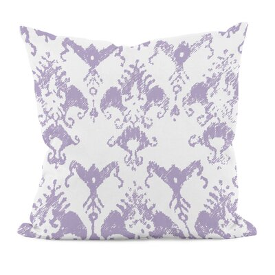 Floral Motifs Cotton Throw Pillow Size: 16 H x 16 W, Color: Lilac Purple