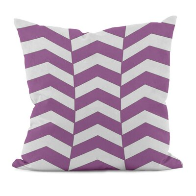 Geometric Decorative Throw Pillow Size: 18 x 18, Color: Radiant Orchid