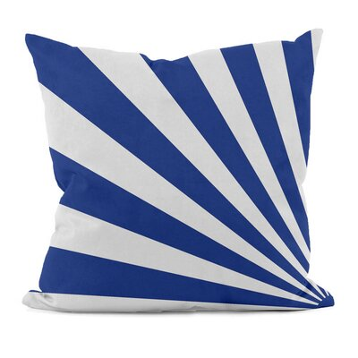 Geometric Decorative Throw Pillow Size: 18 H x 18 W, Color: Dazzling Blue