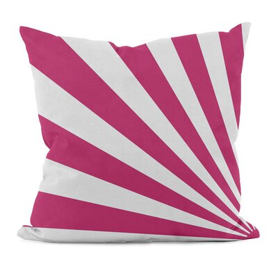 Geometric Decorative Throw Pillow Size: 18 H x 18 W, Color: Fuchsia