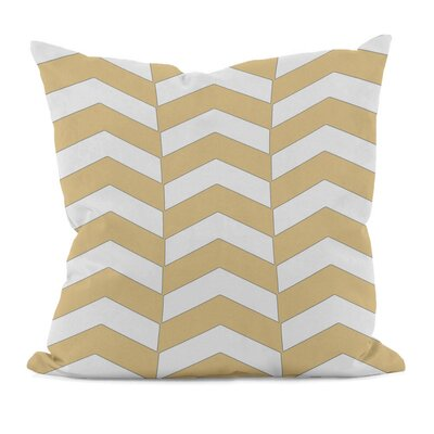 Geometric Decorative Throw Pillow Size: 16 x 16, Color: Yellow