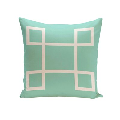 Geometric Down Throw Pillow Size: 18 H x 18 W, Color: Aqua