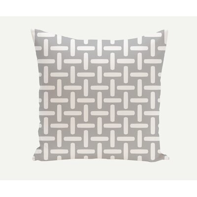 Geometric Down Throw Pillow Size: 20 H x 20 W, Color: Steel