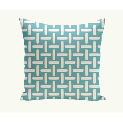 Geometric Down Throw Pillow Size: 16 H x 16 W, Color: Bahama