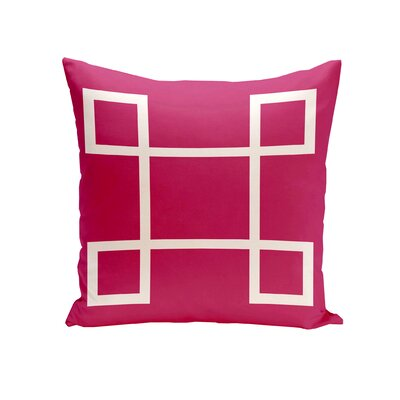 Geometric Down Throw Pillow Size: 18 H x 18 W, Color: Lipstick