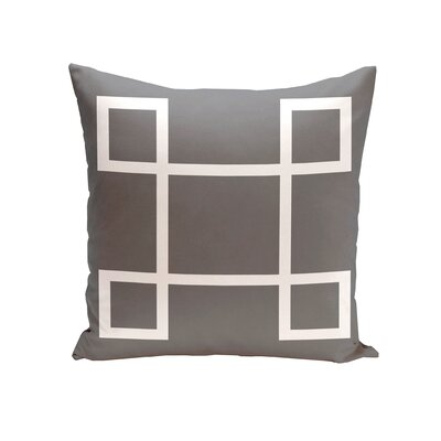 Geometric Down Throw Pillow Size: 16 H x 16 W, Color: Steel