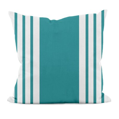 Big and Bold Stripe D�corative Outdoor Pillow Color: Lake Blue, Size: 18 H x 18 W x 1 D