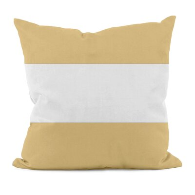 "E By Design Big Stripe Cotton Horizontal Decorative Pillow - Size: 18"" H x 18"" W, Color: Yellow at Sears.com"