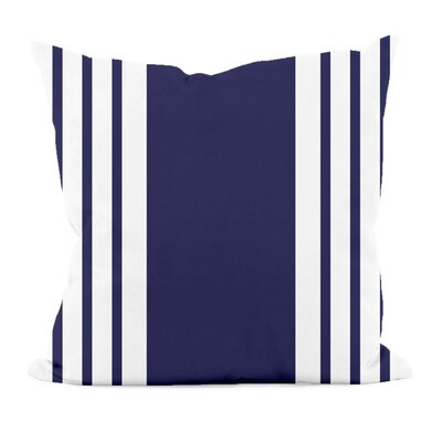 Big and Bold Stripe D�corative Outdoor Pillow Color: Spring Navy, Size: 16 H x 16 W x 1 D