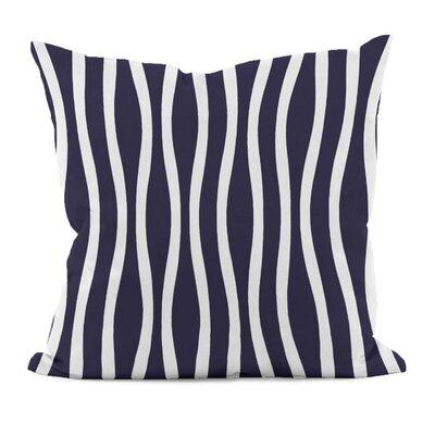 Wavy Stripe Cotton Throw Pillow