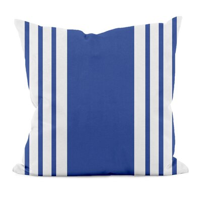 Big and Bold Stripe D�corative Outdoor Pillow Size: 18 H x 18 W x 1 D, Color: Dazzling Blue