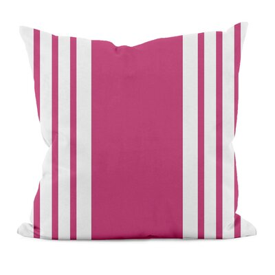 Big and Bold Stripe D�corative Outdoor Pillow Size: 18 H x 18 W x 1 D, Color: Fushia