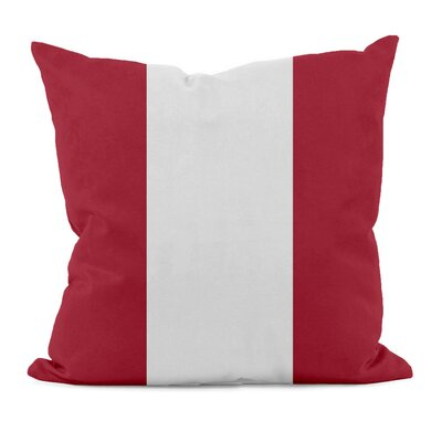 Big Stripe Cotton Throw Pillow