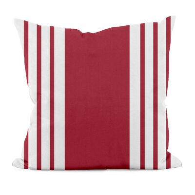 Big and Bold Stripe D�corative Outdoor Pillow Size: 20 H x 20 W x 1 D, Color: Red
