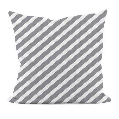 """E By Design Zebra Stripe Decorative Pillow - Color: Classic/Gray, Size: 16"""" H x 16"""" W at Sears.com"""