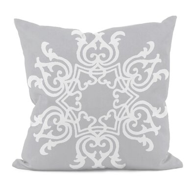 Floral Motifs Throw Pillow Size: 20 H x 20 W, Color: Rain Cloud