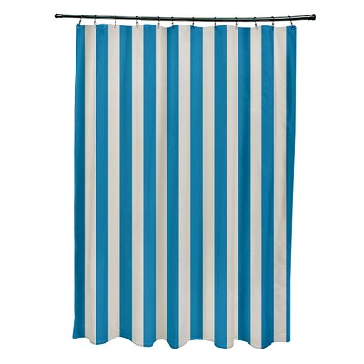 Striped Shower Curtain Color: Latte/Peacock