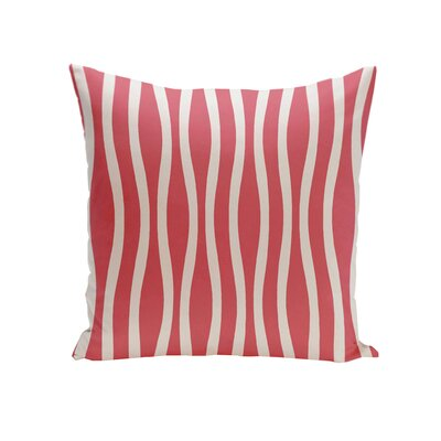 Wavy Stripe Cotton Throw Pillow