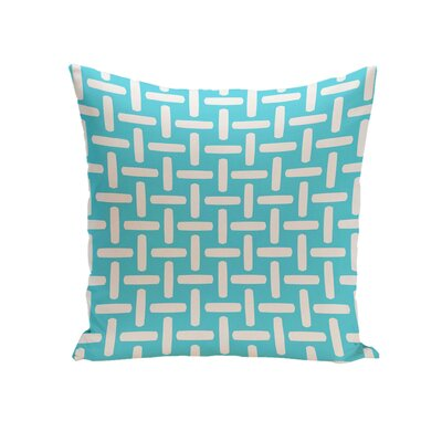 Geometric Down Throw Pillow Size: 26 H x 26 W, Color: Turquoise
