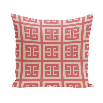 Geometric Throw Pillow Size: 26 H x 26 W, Color: Latte / Coral