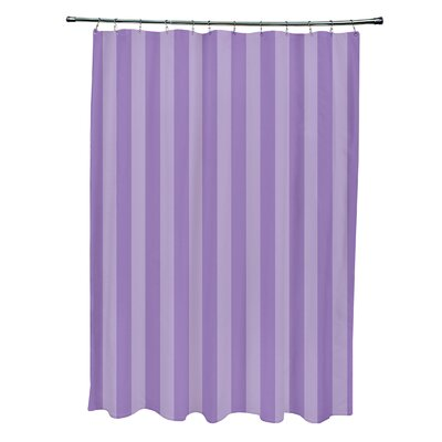 Striped Shower Curtain Color: Lilac/Heather