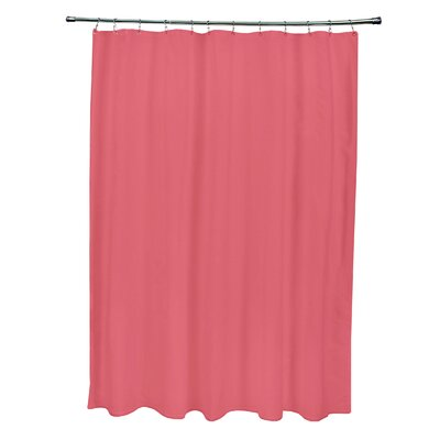 Solid Shower Curtain Color: Coral