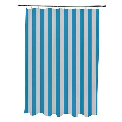 Striped Shower Curtain Color: Rain/Peacock