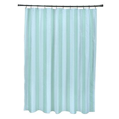 Striped Shower Curtain Color: Ocean/Omar