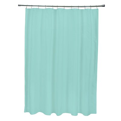 Solid Shower Curtain Color: Aqua