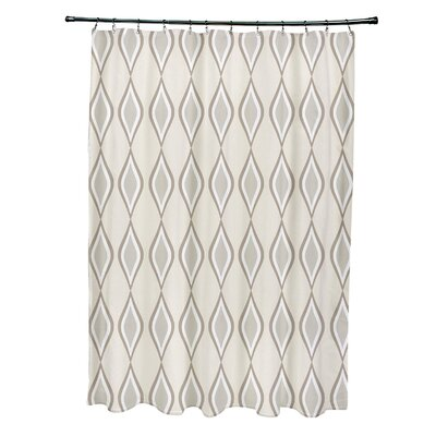Diamond Shower Curtain Color: Bisque / Flax / Oatmeal