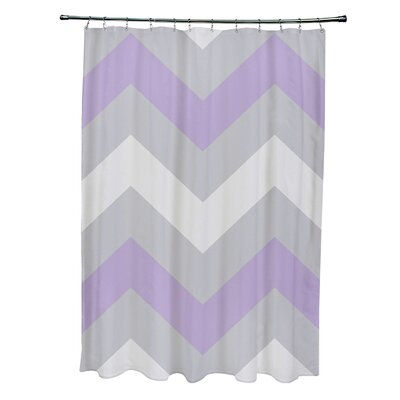 Geometric Shower Curtain Color: Paloma/Rain/Lilac