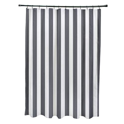 Striped Shower Curtain Color: Steel Gray
