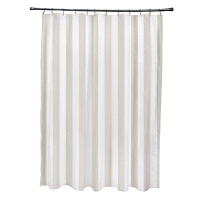 Striped Shower Curtain Color: Latte