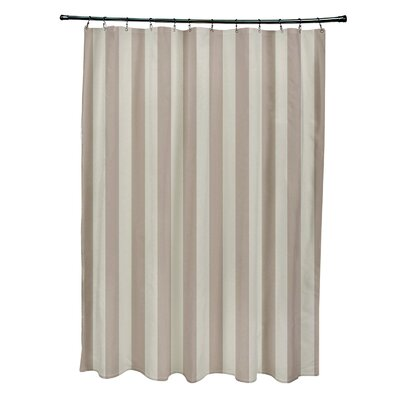 Striped Shower Curtain Color: Oatmeal/Flax