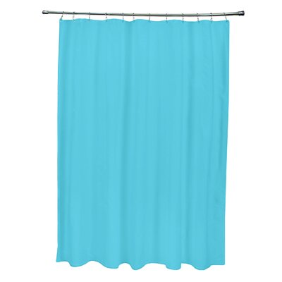 Solid Shower Curtain Color: Turquoise