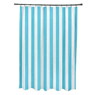 Striped Shower Curtain Color: Turquoise