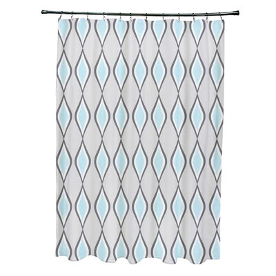 Diamond Shower Curtain Color: Paloma / Steel / Omar